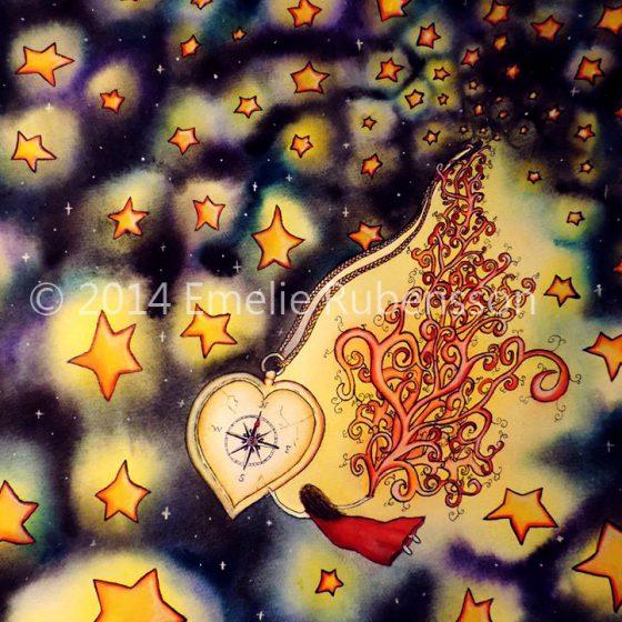 Hjärtatskompass © 2015 Emelie Rubensson