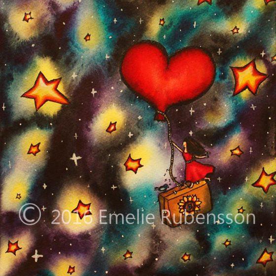 Resan till stjärnorna © 2016 Emelie Rubensson